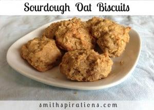 Sourdough Oat Biscuits