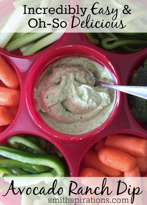 Incredibly Easy and Oh-So Delicious Avocado Ranch Dip