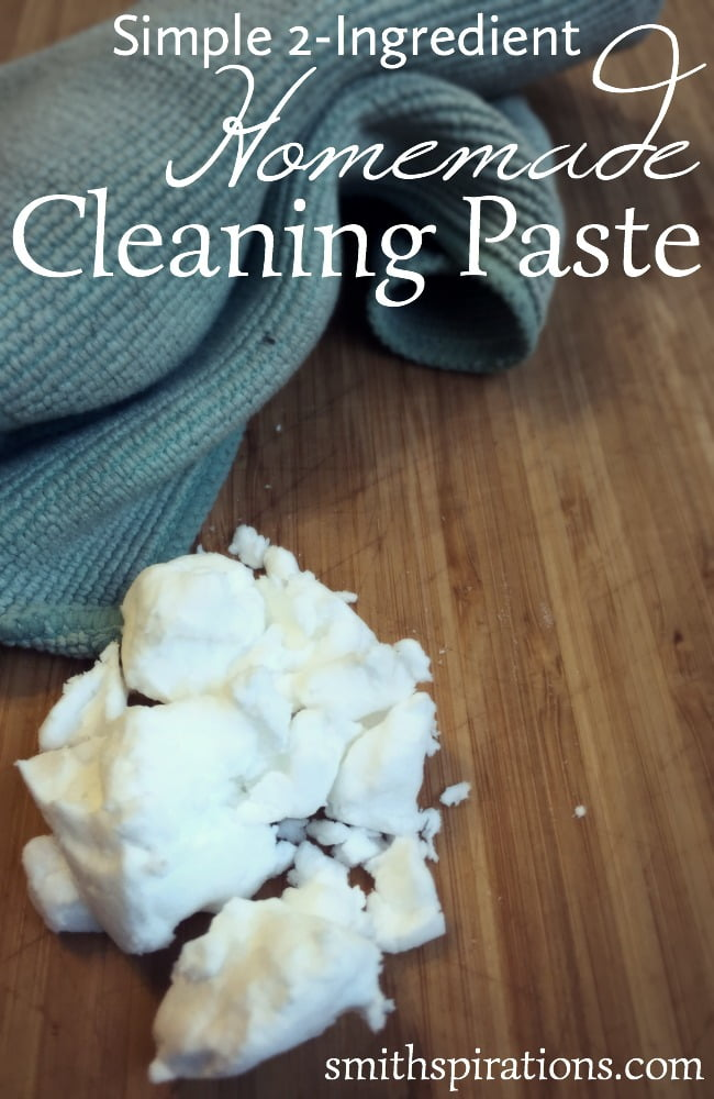 Simple 2 Ingredient Homemade Cleaning Paste