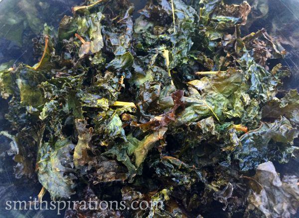Kale Chips close up