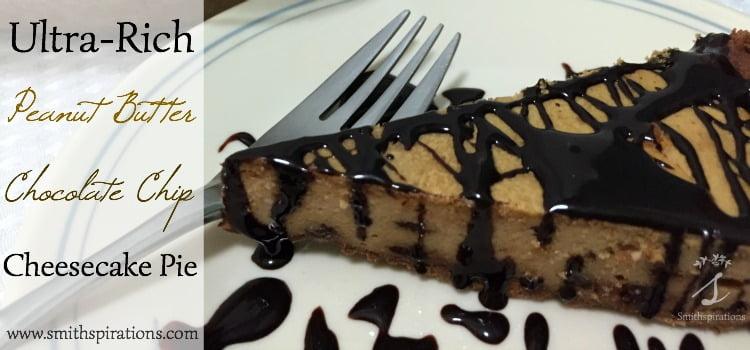 Ultra-Rich Peanut Butter Chocolate Chip Cheesecake Pie 2