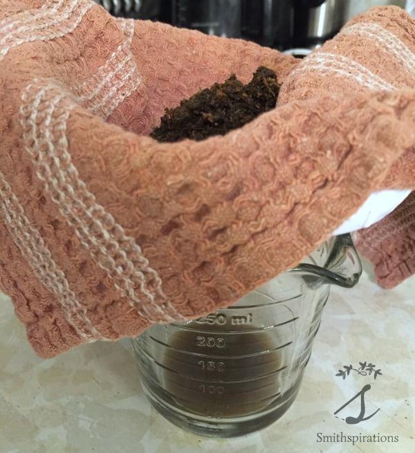 straining echinacea tincture