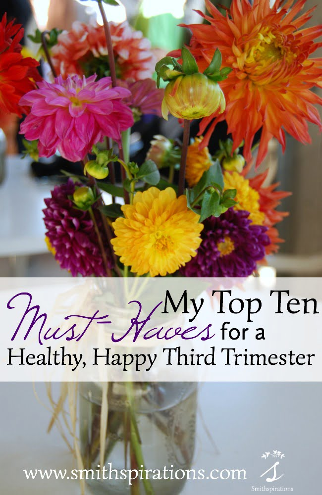 My Top Ten Must-Haves for a Healthy, Happy Third Trimester. The final trimester of pregnancy is an exhausting but exciting time! With unique needs for rest, nutrition, exercise, and more, these are my top ten must-haves for a healthy, happy third trimester.