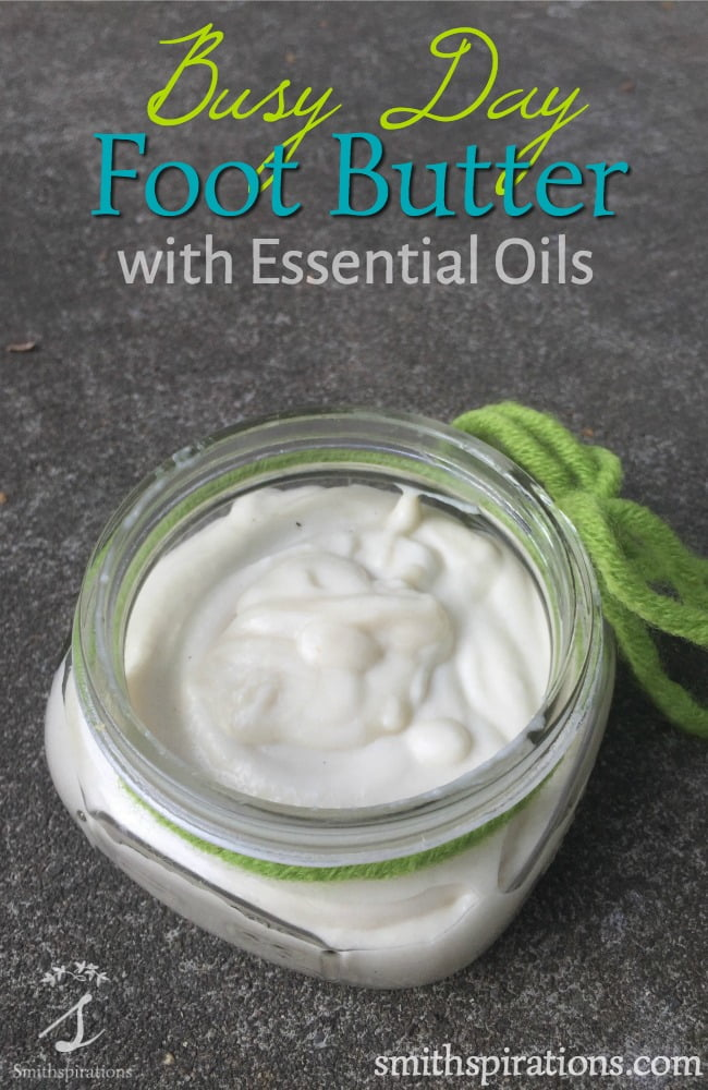 Busy Day Foot Butter with Essential Oils