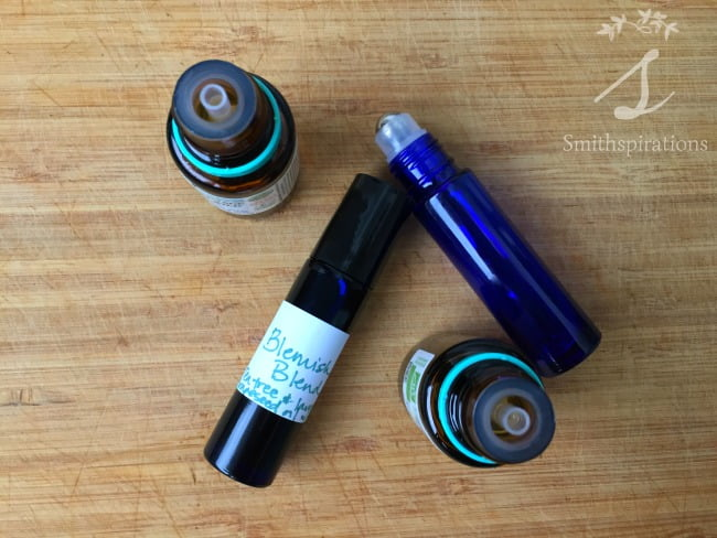 Breakouts are a part of life for most of us from time to time. Essential oils are a great natural remedy for blemishes, and making your own roller bottle blend is a really convenient way to use them! Blemish Blend Roll-On with Essential Oils from Smithspirations
