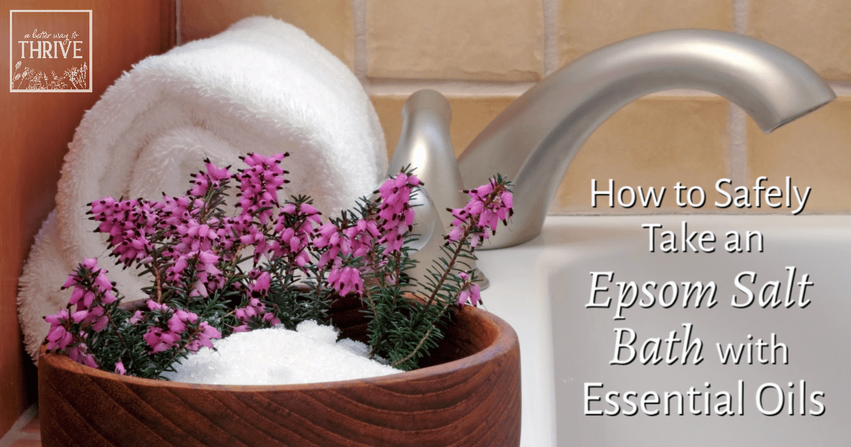 How to Safely Take an Epsom Salt Bath with Essential Oils