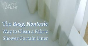 The Easy, Nontoxic Way to Clean a Fabric Shower Curtain Liner