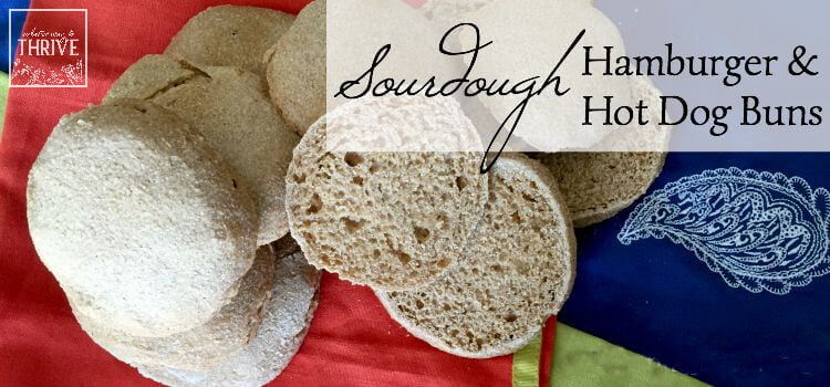How to Make Whole Grain Sourdough Hamburger & Hot Dog Buns