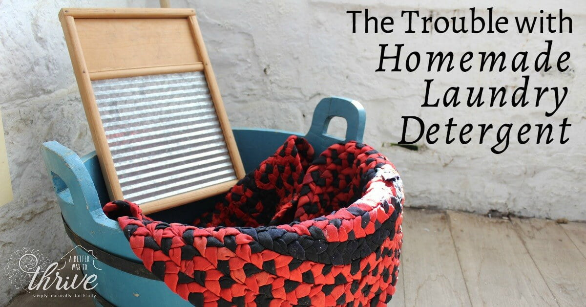 The Trouble with Homemade Laundry Detergent