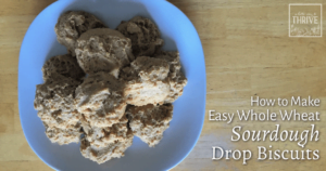 How to Make Easy Whole Wheat Sourdough Drop Biscuits