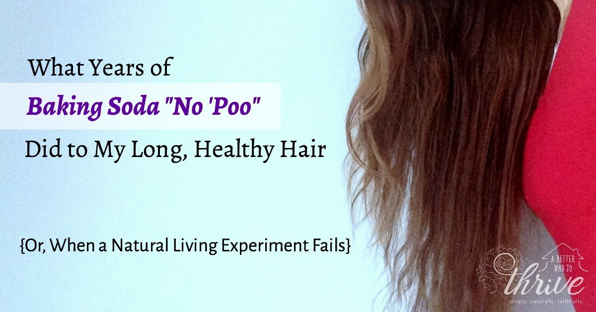 "What Years of Baking Soda ""No 'Poo"" Did to My Long, Healthy Hair {Or, When a Natural Living Experiment Fails}"
